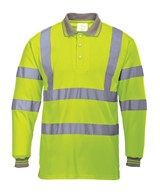 Safety Hi Vis Polo Shirt Long Sleeved