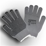 Grey Gloves with Black Dots